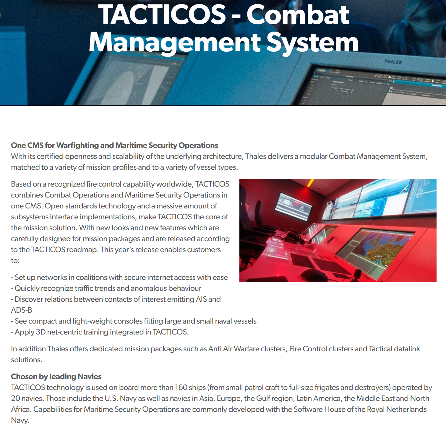 Thales Tacticos CMS